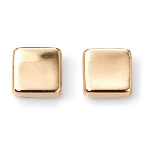 Shaped Square Stud in Gold