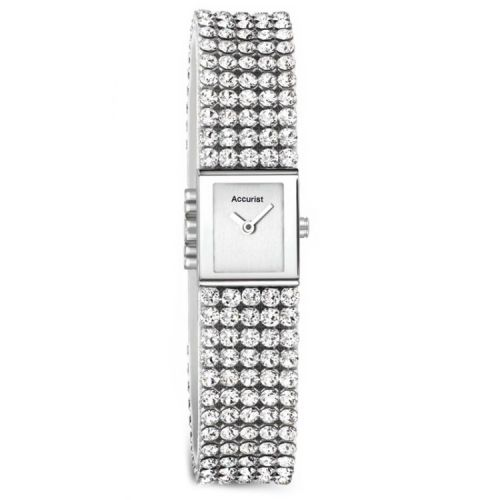 Accurist Swarovski Crystal Square Ladies Watch LB1504