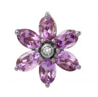 Endless Big Amethyst Flower Charm