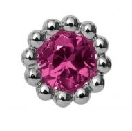Endless Pink Rhodolite Flower Charm