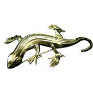 Silver Iguana Brooch