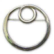 Circles Silver Brooch