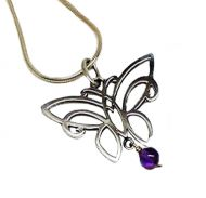 Silver Butterfly Pendant by Annabel Humber