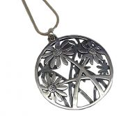 Annabel Humber Daisies Silver Pendant