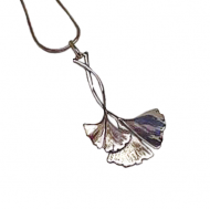 Annabel Humber Silver Ginko Pendant