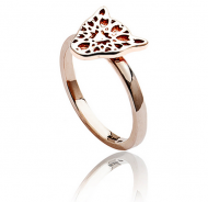 Jaguar Head Filigree Ring Rose Gold