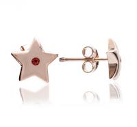 Chavin Rose Gold Star Ruby Studs