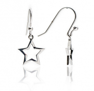 Silver Silhouette Star Earrings