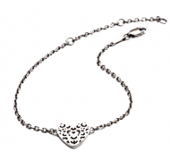 Silver Filigree Heart Bracelet