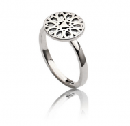 Silver Circular Filigree Ring