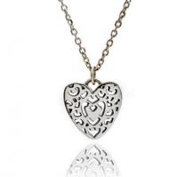 Silver Filigree Heart Pendant
