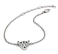 Jaguar Head Filigree Silver Bracelet