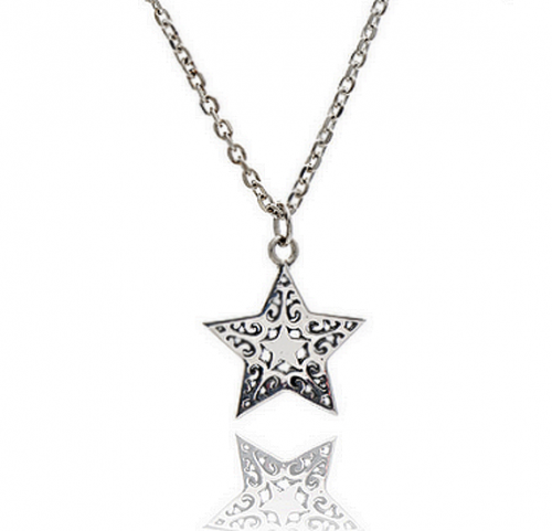 Silver Filigree Star Necklace