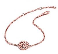 Rose Gold Circular Jaguar Head Filigree Bracelet