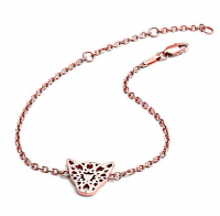 Chavin Rose Gold Jaguar Head Filigree Bracelet