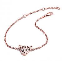 Chavin Rose Gold Jaguar Head Filigree Bracelet