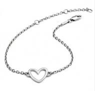 Silver Silhouette Heart Bracelet