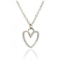 Silver Silhouette Heart Pendant