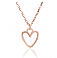 Silhouette Heart Rose Gold Pendant