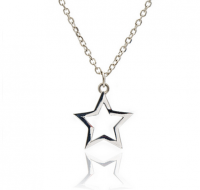 Silver Silhouette Star Necklace