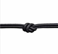 Endless Black Leather Necklace