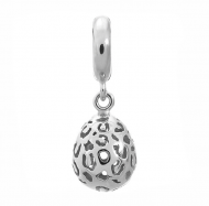 Jennifer Lopez by Endless Leopard Cut Drop Silver Charm