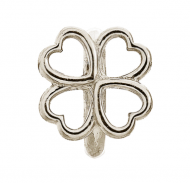 Endless Four Leaf Clover Silver Charm