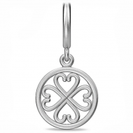 Endless True Love Drop Silver Charm