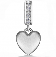 Endless Sparkling Love Drop Silver Charm