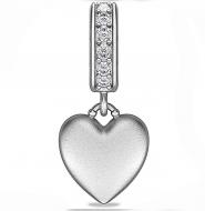 Endless Sparkling Love Drop Silver Charm