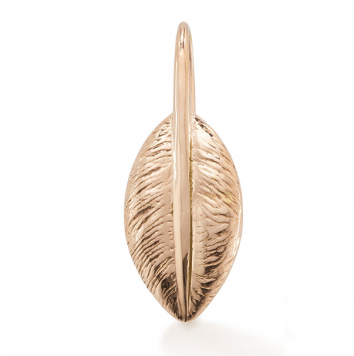 "Oak ""Feather of Friendship"" Rose Gold Pendant Charm"