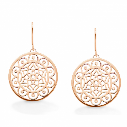 "Oak ""Dream Big"" Rose Gold Earrings"