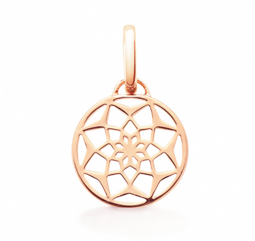 "Oak ""Original Dreamcatcher"" Rose Gold Pendant Charm"