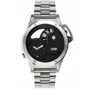 STORM BLACK DUALOX SILVER MENS WATCH