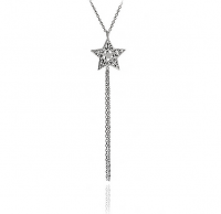 Silver Star Tassel Necklace