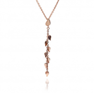 Chavin Rose Gold Leaf Dangle Pendant