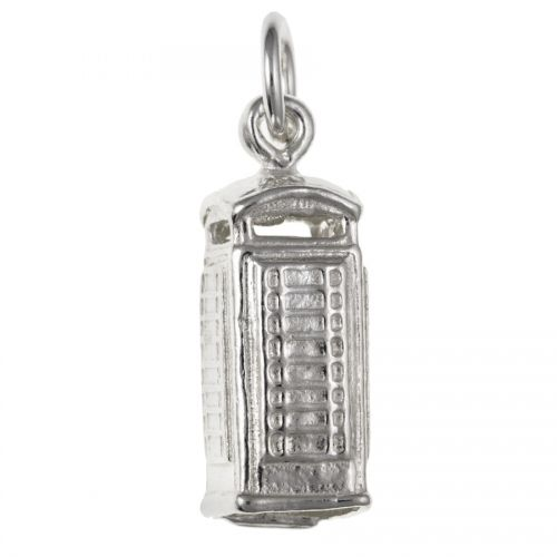 Sterling Silver Telephone Box Charm