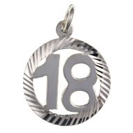 18th Birthday Silver Pendant