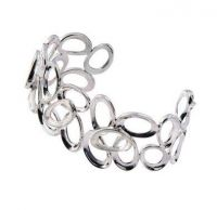 Chris Lewis Silver Ovals Overlap Bangle