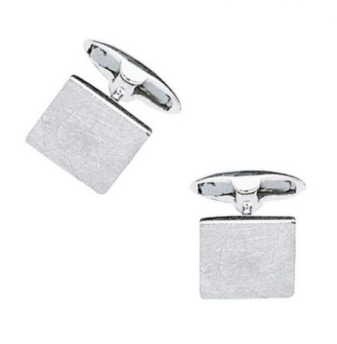 Fred Bennett Textured Square Silver Cufflinks