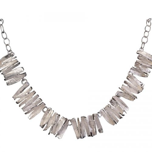 Chris Lewis Cinnamon Silver Necklace