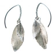 Aurum Raven Silver Drop Earrings
