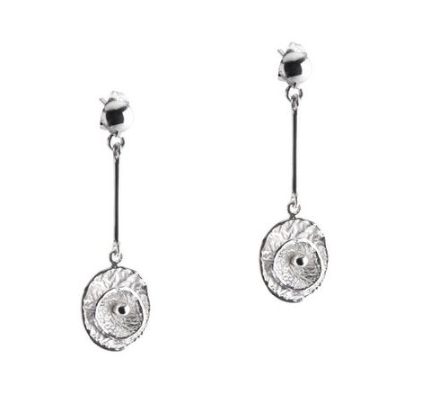 Chris Lewis Poppy Pendulum Sterling Silver Drop Earrings