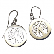 Annabel Humber Tree of Life Silver Drop Earrings