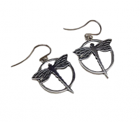 Annabel Humber Dragonfly Silver Drop Earrings