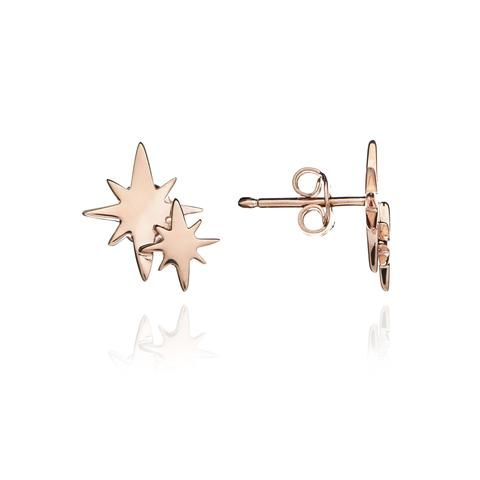 Chavin Rose Gold Double Star Studs
