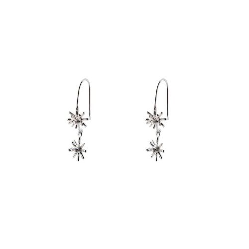 Chris Lewis Frozen Star 2-Piece Drop Earrings