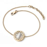 9ct Yellow and White Gold Mother-of-Pearl Bracelet