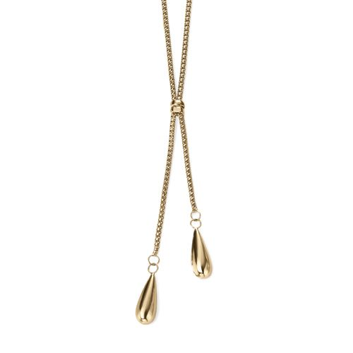 9ct Yellow Gold Droplet Necklace