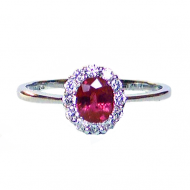 Ruby & Diamond Engagement Ring
